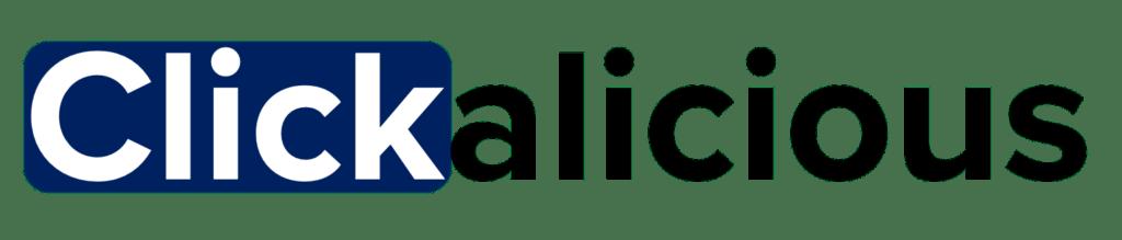 Clickalicious logo blauw png